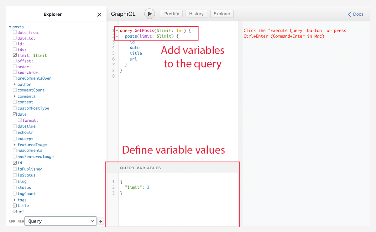 Adding query variables